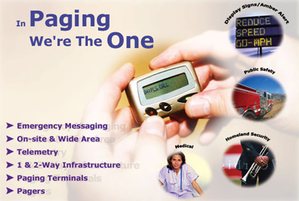 Digital Paging, Pagers, Wireless Messaging, RF Equipment, Telemetry Equipment